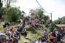 Spectators of the Fleche Wallonne Femme - a 118.5 km road race, starting and finishing in Huy on April 24, 2019, in Liege, Belgium. (Photo by Balint Hamvas/Velofocus.com)