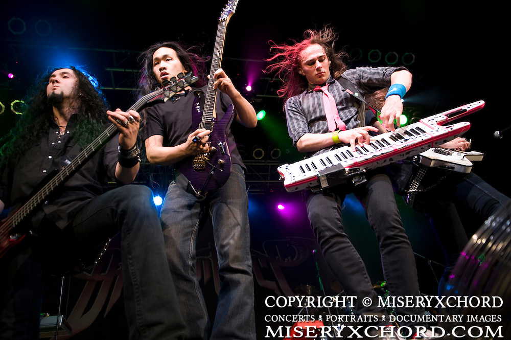 Dragonforce performing on the openng night of their Ultra Beatdown North South American Tour at The House of Blues in Anaheim, California USA