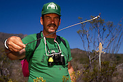 Dan Chiaravalli holds a side-blotched lizard (Uta Stansburiana), Chiricahua Mountains, Arizona..Media Usage:.Subject photograph(s) are copyrighted Edward McCain. All rights are reserved except those specifically granted by McCain Photography in writing...McCain Photography.211 S 4th Avenue.Tucson, AZ 85701-2103.(520) 623-1998.mobile: (520) 990-0999.fax: (520) 623-1190.http://www.mccainphoto.com.edward@mccainphoto.com.