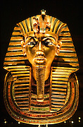 Cairo. Egyptian Museum. death mask of king Tut-Ench-Amun.
