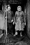 'Romanian Gothic' - Romanian Dairy Farmers, Pintic Transylvania, Romania August 1996