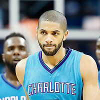 01 November 2015: Charlotte Hornets forward Nicolas Batum (5) looks dejected during the Atlanta Hawks 94-92 victory over the Charlotte Hornets, at the Time Warner Cable Arena, in Charlotte, North Carolina, USA.