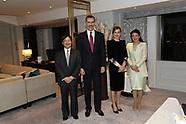 040720 Spanish Royals Working at Zarzuela Palace