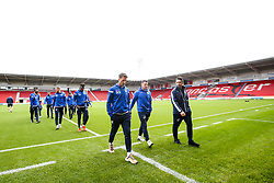 Bristol Rovers arrive at Doncaster Rovers - Mandatory by-line: Robbie Stephenson/JMP - 19/10/2019 - FOOTBALL - The Keepmoat Stadium - Doncaster, England - Doncaster Rovers v Bristol Rovers - Sky Bet League One