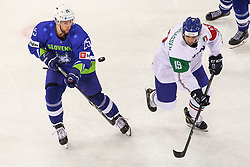 Robert Sabolic of Slovenia during Ice Hockey match between National Teams of Italy and Slovenia in Round #5 of 2018 IIHF Ice Hockey World Championship Division I Group A, on April 28, 2018 in Arena Laszla Pappa, Budapest, Hungary. Photo by David Balogh / Sportida