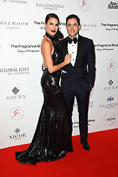 Carla Barber and Camilo Esquivel attending the 9th Annual Global Gift Gala held at the Rosewood Hotel, London. Picture date: Friday November 2nd 2018. Photo credit should read: Matt Crossick/ EMPICS Entertainment.