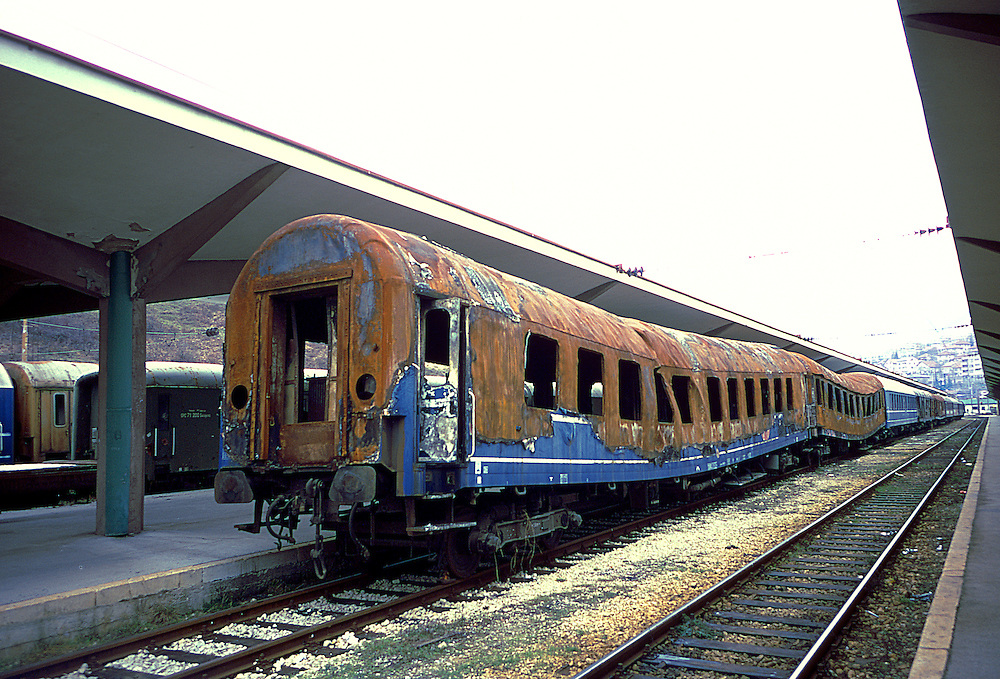 Mostar train station - leavings of war