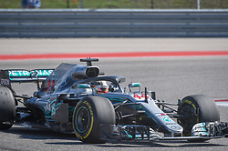 October 21, 2018 - Austin, TX, U.S. - AUSTIN, TX - OCTOBER 21: Mercedes driver Lewis Hamilton (44) of Great Britain exits turn 10 during the F1 United States Grand Prix on October 21, 2018, at Circuit of the Americas in Austin, TX. (Photo by Ken Murray/Icon Sportswire) (Credit Image: © Ken Murray/Icon SMI via ZUMA Press)