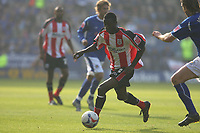 Photo: Pete Lorence.<br />Leicester City v Southampton. Coca Cola Championship. 14/10/2006.<br />Bradley Wright-Phillips in action.