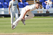 Gavin Griffiths bowling during the Specsavers County Champ Div 2 match between Glamorgan County Cricket Club and Leicestershire County Cricket Club at the SWALEC Stadium, Cardiff, United Kingdom on 18 September 2019.