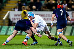 James Scott of England U20 is tackled - Mandatory by-line: Robbie Stephenson/JMP - 15/03/2019 - RUGBY - Franklin's Gardens - Northampton, England - England U20 v Scotland U20 - Six Nations U20