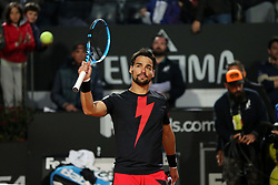May 14, 2018 - Rome, Rome, Italy - 14th May 2018, Foro Italico, Rome, Italy; Italian Open Tennis; Fabio Fognini (ITA) celebrate with crowd after winning his match 6-3, 6-1 against Gael Monfils (FRA)  Credit: Giampiero Sposito/Pacific Press  (Credit Image: © Giampiero Sposito/Pacific Press via ZUMA Wire)