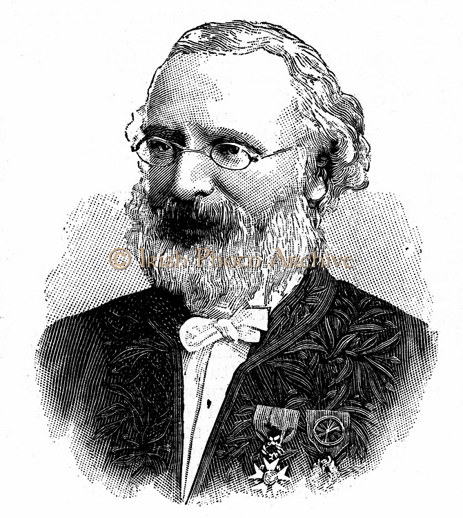 Frederic Passy (1822-1912) French economist and writer, 1902. Shared the first Nobel Peace prize with Henri Dunant in 1901. Engraving.