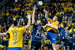 Josip Šarac of RK Celje Pivovarna Lasko during handball match between RK Celje Pivovarna Lasko (SLO) and of MOL Pick Szeged (HUN) in 9th Round of EHF Champions League 2019/20, on November 24, 2019 in Arena Zlatorog, Celje, Slovenia. Photo Grega Valancic / Sportida