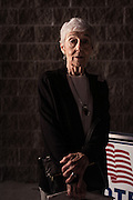 """HOOVER, AL – MARCH 1, 2016: Darlene Murray, 83, stands at the Hunter Street Baptist Church polling station. Despite the fact that she supports Kasich, Murray cast her ballot for Donald Trump this Super Tuesday. """"If I thought he had a chance, we'd vote for Kasich,"""" she said. """"Unfortunately I don't think he does.""""<br /> <br /> On Super Tuesday, voters in the economically vibrant city of Hoover turned out to voice their support for a presidential candidate. Located in the Appalachian foothills, Hoover is the largest suburb of Birmingham and is home to several planned communities with idyllic neighborhoods tailored for the upper middle class. CREDIT: Bob Miller for The Wall Street Journal<br /> OLDCITIES"""