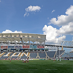 Staff photos by Tom Kelly IV<br /> Kutztown University takes on Arizona in the cup semi-final game Collegiate Rugby Championship Tournament at PPL Park in Chester, Sunday afternoon.