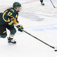 1st year forward Lilla Carpenter-Boesch (17) of the Regina Cougars in action during the preseason Cougars Alumni Game on September 30 at Co-Operators Centre. Credit: Arthur Ward/Arthur Images