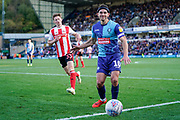 Matthew Bloomfield of Wycombe Wanderers in action during the EFL Sky Bet League 1 match between Wycombe Wanderers and Sunderland at Adams Park, High Wycombe, England on 19 October 2019.