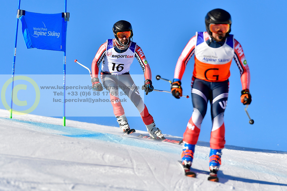 BURTON Kevin Guide: GRIMMELMANN Kurt, B2, USA, Giant Slalom at the WPAS_2019 Alpine Skiing World Cup, La Molina, Spain