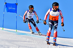 BURTON Kevin Guide: GRIMMELMANN Kurt, B2, USA, Giant Slalom at the WPAS_2019 Alpine Skiing World Cup, La Molina, Spain