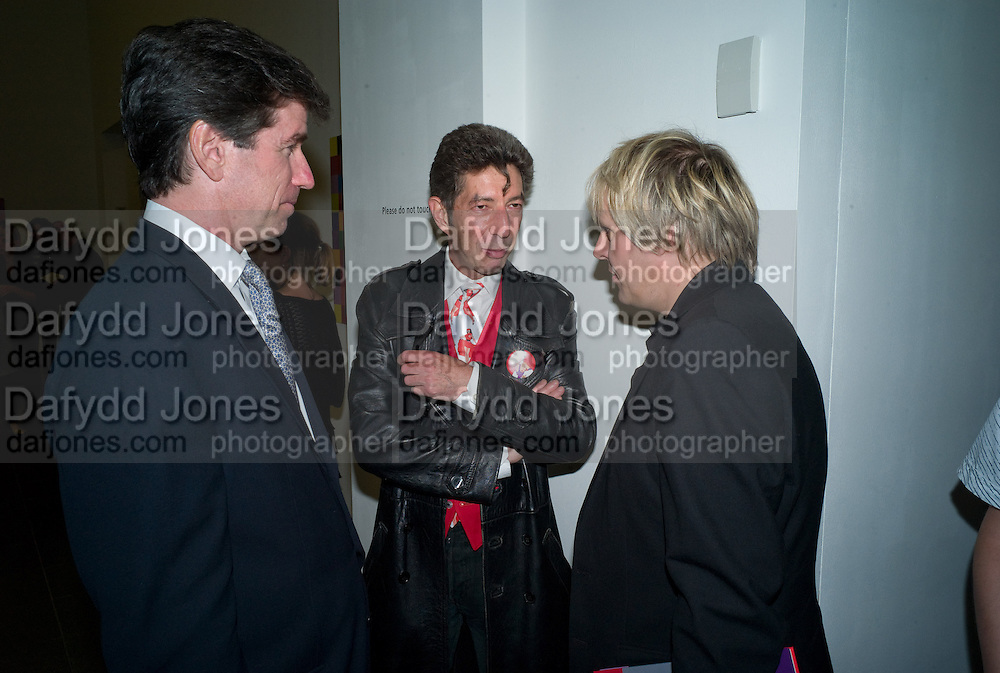 BRIAN SEXTON; DUGGIE FIELDS; NICK RHODES, Gerhard Richter: 4900 Colours - private view<br />The Serpentine Gallery, London, W2. 22 September 2008 *** Local Caption *** -DO NOT ARCHIVE-&copy; Copyright Photograph by Dafydd Jones. 248 Clapham Rd. London SW9 0PZ. Tel 0207 820 0771. www.dafjones.com.