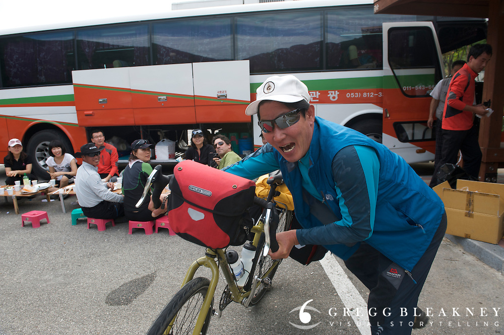 Hiker Steals Bicycle, South Korea