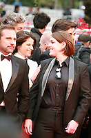Steve Carell and Megan Ellison at the Foxcatcher gala screening red carpet at the 67th Cannes Film Festival France. Monday 19th May 2014 in Cannes Film Festival, France.