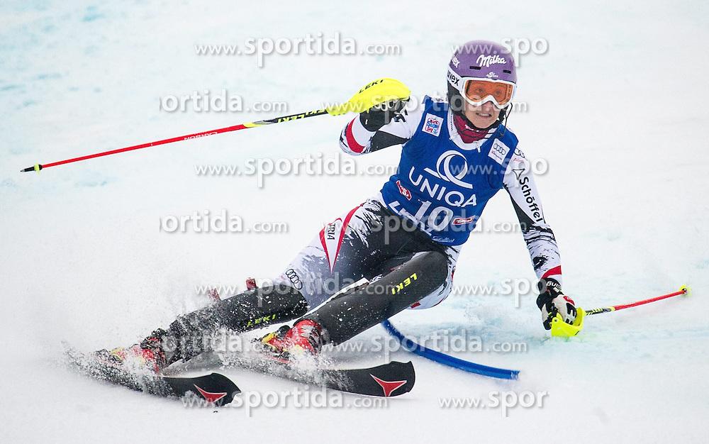 29.12.2013, Hochstein, Lienz, AUT, FIS Weltcup Ski Alpin, Lienz, Slalom, Damen, 1. Durchgang, im Bild Michaela Kirchgasser (AUT) // during the 1st run of ladies slalom Lienz FIS Ski Alpine World Cup at Hochstein in Lienz, Austria on 2013/12/29, EXPA Pictures © 2013 PhotoCredit: EXPA/ Michael Gruber