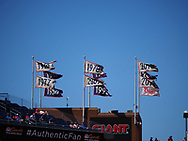 June 14, 2018 - Philadelphia, PA, U.S. - PHILADELPHIA, PA - JUNE 14: Stadium Flags fly over Citizens Bank Park during the MLB baseball game between the Philadelphia Phillies and the Colorado Rockies on June 14, 2018 at Citizens Bank Park in Philadelphia, PA. The Phillies won 9-3. (Photo by Andy Lewis/Icon Sportswire) (Credit Image: © Andy Lewis/Icon SMI via ZUMA Press)