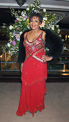 DAME SHIRLEY BASSEY at the Grosvenor House Art & Antiques Fair Gala evening in aid of the UK