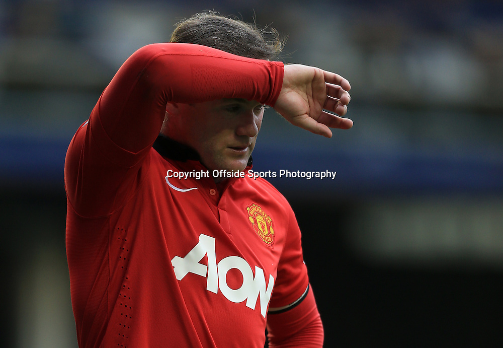 20th April 2014 - Barclays Premier League - Everton v Manchester United - Wayne Rooney of Man Utd looks dejected - Photo: Simon Stacpoole / Offside.