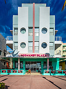 A Miami Beach landmark: the Art Deco-style Ocean Surf Hotel (aka Normandy  Plaza Hotel) designed by modernist architect Anton Skislewicz in 1940. It is actually not in South Beach, but is on a South Beach-like, waterfront street named Ocean Terrace in the city's North Beach district.