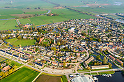 Nederland, Friesland, Gemeente Heerenveen, 04-11-2018; overzicht Akkrum met Terptsjerke en Welgelegen en  Coopersburg, tehuis voor arme ouderen (links in beeld)<br /> Akkrum village.<br /> luchtfoto (toeslag op standaard tarieven);<br /> aerial photo (additional fee required);<br /> copyright &copy; foto/photo Siebe Swart