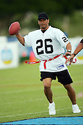 KAPOLEI - FEBRUARY 9:  Rod Woodson, former defensive back for the Pittsburgh Steelers and other NFL teams, participates in a NFL legends flag football game during the 2006 NFL Pro Bowl week at the Ko Olina resort on February 9, 2006 in Kapolei, Hawaii. ©Paul Spinelli/SpinPhotos *** Local Caption *** Rod Woodson