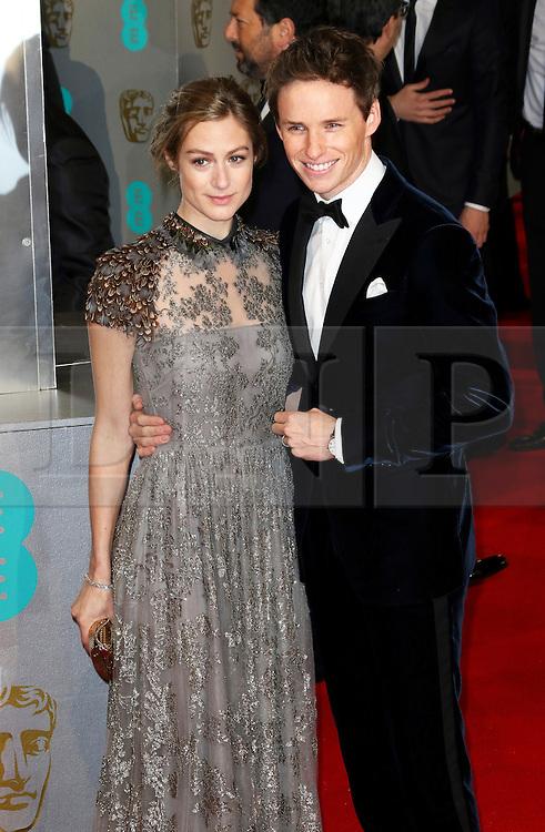 © London News Pictures. Hannah Bagshawe, Eddie Redmayne, EE British Academy Film Awards (BAFTAs), Royal Opera House Covent Garden, London UK, 08 February 2015, Photo by Richard Goldschmidt /LNP