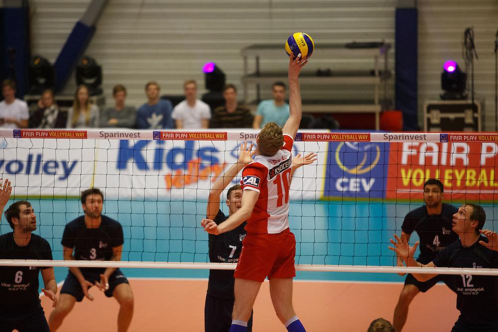 Volleyball Final 4 2015<br /> Marienlyst - Ish&oslash;j<br /> Frederiksberg Hallerne<br /> <br /> Fotograf: Morten Olsen