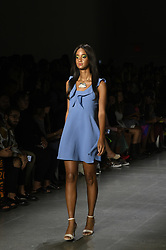 September 12, 2018 - New York, New York, U.S - September, 2018 - New York, New York  U.S. - A model on the runway at the DAN LIU S/S 2019 RTW show during New York Fashion Week 2018.  (Credit image (c) Theano Nikitas/ZUMA Wire/ZUMAPRESS.com (Credit Image: © Theano Nikitas/ZUMA Wire)
