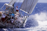 J-class Ranger and Endeavour practicing for the Antigua Classic Yacht Regatta