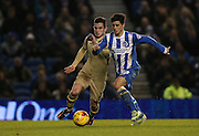 Joao Carlos Teixeira, Brighton midfielder during the Sky Bet Championship match between Brighton and Hove Albion and Leeds United at the American Express Community Stadium, Brighton and Hove, England on 24 February 2015.