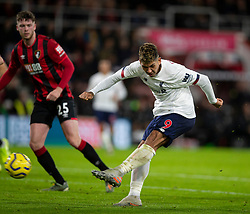 BOURNEMOUTH, ENGLAND - Saturday, December 7, 2019: Liverpool's Roberto Firmino shoots during the FA Premier League match between AFC Bournemouth and Liverpool FC at the Vitality Stadium. (Pic by David Rawcliffe/Propaganda)