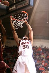 Virginia Cavaliers forward Adrian Joseph (30)..The Virginia Cavaliers defeated the Boston College Eagles 72-58 at University Hall in Charlottesville, VA on February 21, 2006.