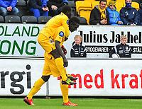 Fotball<br /> Norge<br /> Tippeligaen<br /> 10.05.2014<br /> Bodø/Glimt v Haugesund 2:1<br /> Foto: Kent Even Grundstad, Digitalsport<br /> <br /> Papa Alioune Ndiaye - BG