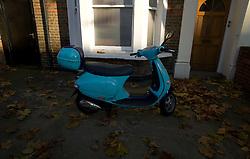 UK ENGLAND LONDON 18NOV11 - A scooter  parked in a front yard in Maida Vale in west London...jre/Photo by Jiri Rezac....© Jiri Rezac 2011