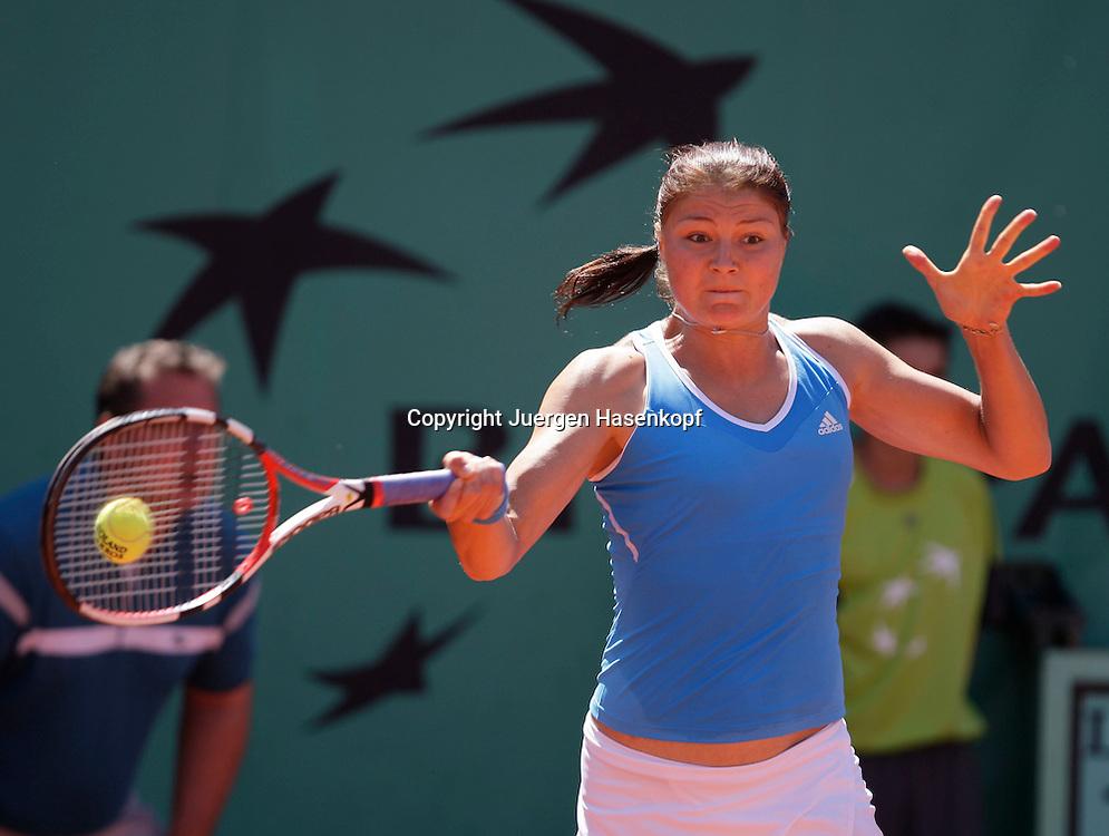 French Open 2009, Roland Garros, Paris, Frankreich,Sport, Tennis, ITF Grand Slam Tournament,  Dinara Safina (RUS) spielt eine Vorhand,forehand,action<br /> <br /> Foto: Juergen Hasenkopf