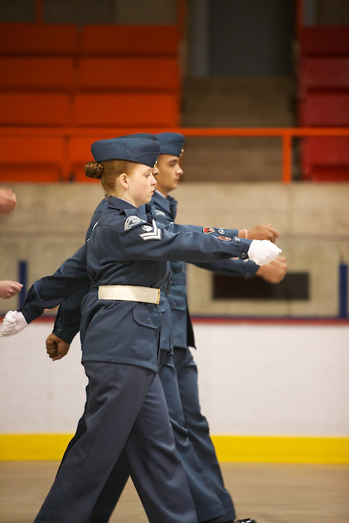 The North Shore Sabre Sqaudron 803 40th Annual Cadet Review is held in Kirkland, Quebec on May 29th, 2011. Parents and alumni attend the annual parade to celebrate the achievments of Royal Canadian Air Cadets and observe a variety of demonstrations by the cadets.