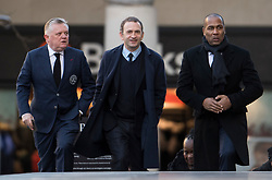 © Licensed to London News Pictures. 14/12/2017. London, UK. Queens Park Rangers coach LES FERDINAND (R), and other representatives form the club arrive at St Paul's Cathedral in London for a Grenfell Tower National Memorial Service to mark the six month anniversary of the Grenfell Tower fire. The service is attended by survivors of the fire and relatives of those who lost their lives in the fire, as well as members of the emergency services and members of the Royal family.  Over 70 people were killed when a huge fire ripped though 24-storey Grenfell Tower block in west London in June 2017.   Photo credit: Ben Cawthra/LNP