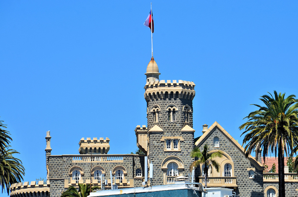 Castillo Burnet in Vi&ntilde;a del Mar, Chile<br /> During the 19th century, the First Sister Hill was occupied by the Callao Military Fort. Then in the 1920s, two grand buildings were constructed on top of what became Castle Hill. One of them was commissioned by Carlos Ib&aacute;&ntilde;ez del Campo. The former president&rsquo;s 7,400 foot summer residence is Castillo Presidencial. The second is Castillo Burnet. But before Rafael Brunet Brown could finish, he sold it to Nicol&aacute;s Yarur Lolas. This is why it is also referred to as Yarur Palace. Burnet Castle is now the holiday retreat of the Chilean Ministry of Foreign Affairs.
