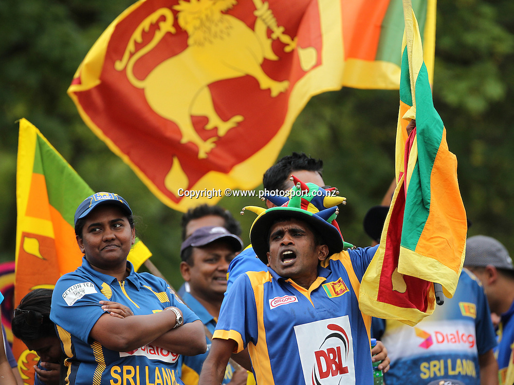 General View of Sri Lankan supporters during the first ODI between the Black Caps v Sri Lanka at Hagley Oval, Christchurch. 11 January 2015 Photo: Joseph Johnson / www.photosport.co.nz