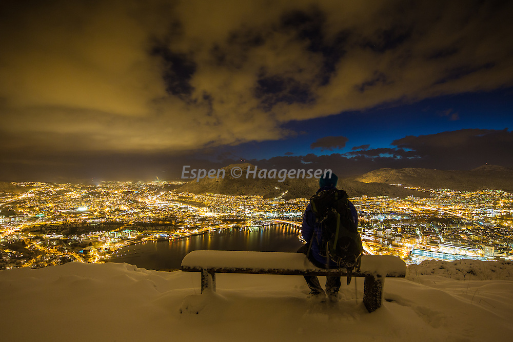 The first snow in Bergen.<br />