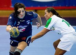 Maja Son  of Slovenia at Women European Championships Qualifying handball match between National Teams of Slovenia and Belarus, on October 17, 2009, in Kodeljevo, Ljubljana.  (Photo by Vid Ponikvar / Sportida)